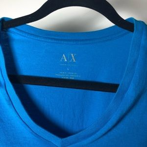 Armani Exchange Blue V-Neck Shirt